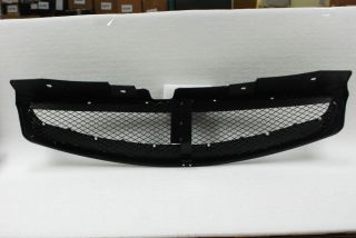 03 07 Infiniti G35 2dr Coupe Flat Black Sport Racing Front Mesh Grille