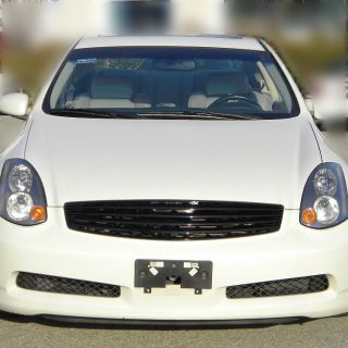 JDM 2003 2007 Infiniti G35 2dr ABS Blk Front Hood Grill