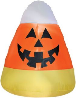Inflatable Candy Corn Halloween Yard Decoration Air Filled Lights Fun