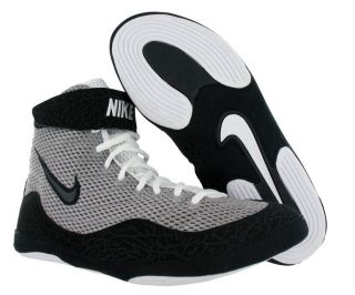 Nike Inflict Mens Wrestling Shoes Gray Black Size