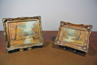 Two Original Signed Clara Inness Landscape Oil Paintings