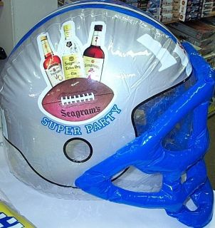 Seagrams Inflatable Super Party Football Helmet Sign