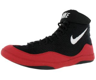 Nike Inflict Mens Wrestling Shoes Black White Red Size
