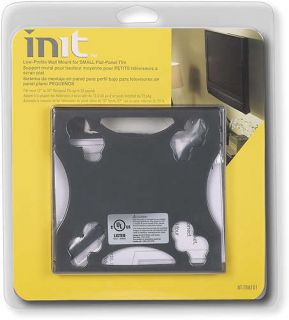 Init Low Profile Wall Mount Small Flat Panel TVs TVM101 13 30 30 lb