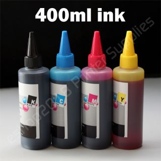 400ml 100ml per Color Refill Bulk Ink for HP60 HP901 60 XL 901 XL