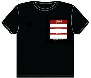 Bride Name Tag T Shirt XXL   Inigo Montoya   Geeky Funny Humor UNISEX