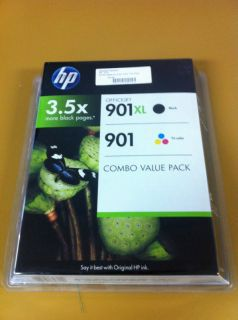 Genuine New HP 901XL Black Ink 901 Color Combo Pack CD993BN Expired