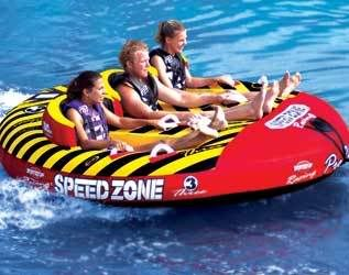 Speedzone 3 Inflatable Boat Towable Water Lake Tube