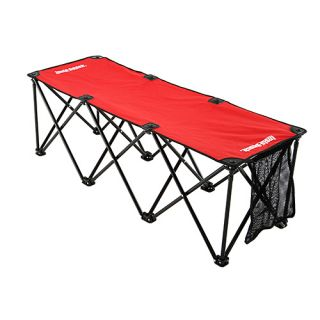 Insta Bench 3 Seater Portable Folding Sports Bench and Carry Bag   Red