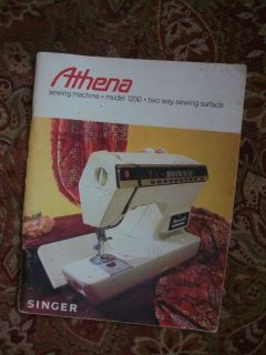 Singer Instruction Manual for Athena 1200 Sewing Machine