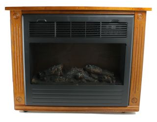 LS FP1500 1500 Watt Infrared Quartz Electric Fireplace Heater