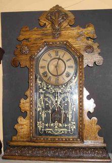 Ingraham Golden Oak Kitchen Clock from The Bonanza Series Clean