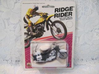 1986 Police Bike Ridge Rider Die Cast Metal Zee Toys