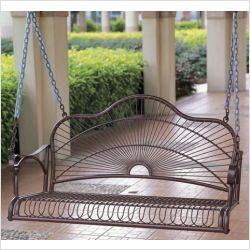 Caravan 3484 EP   International Caravan Iron Patio Sun Ray Porch Swing