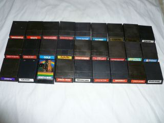 INTELLIVISION GAME LOT ADVANCED DUNGEONS DRAGONS BURGERTIME TRON MAZE