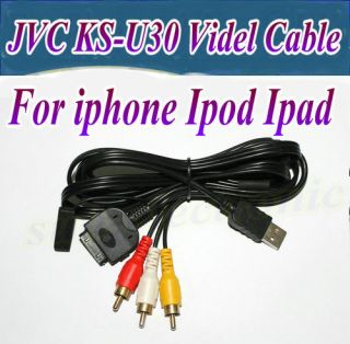 KSU30 USB Audio Video Interface Adapter Cable for iPod iPhone