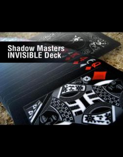 Invisible Deck   Ellusionist Bicycle Shadow Master Cards Black Magic