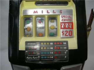 mills 10 cent 777 special award slot machine bell o matic corp 1940s