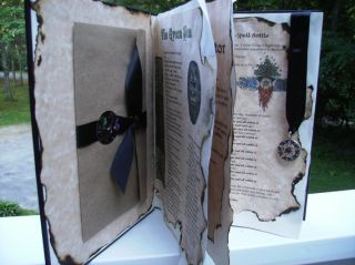 Book of Shadows 22 Wiccan Pagan Parchment Pages 8 1 2 x11 Altar Book