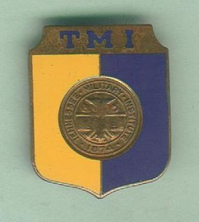 Antique Enamel Pin from Tennessee Military Institute