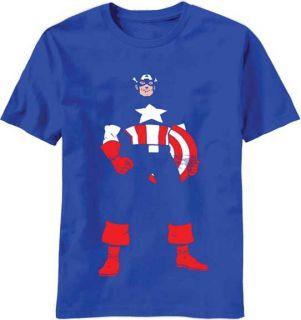Boys Captain America Invisible Captain T Shirt SMALL (8) MEDIUM (10