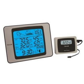 Taylor 1528 Weather Station Atomic Clock New