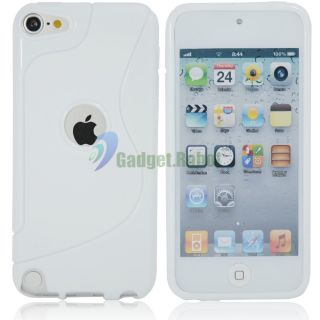 TPU Soft Skin Case Cover for iPod Touch 5 5g 5th Gen White GR
