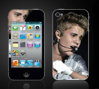 iPod Touch 4th Gen Justin Bieber Believe Skins Vinyl Decals iTouch 4