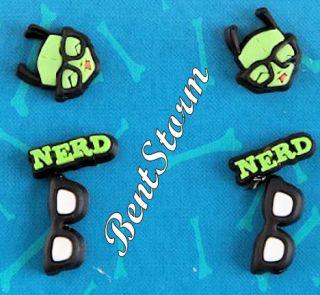 Invader Zim Gir Nerd Glasses Pierce Earrings 6 Pack Set Stud & Hoop
