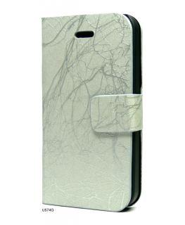 Leather Skin Tri Fold Stand Flip Cover Case iPhone 4 U574G