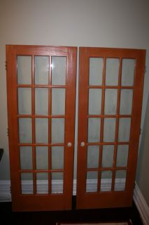 Glass doors interior french frosted glass door 2 0 x 6 8 1 - Solid wood french doors interior ...