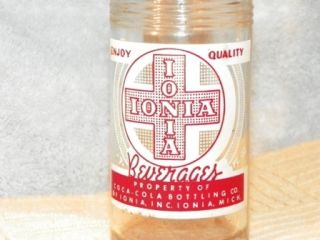 Ionia Beverages Soda Pop Bottle Coca Cola Bottling Co Coke Ionia