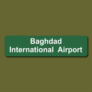 Baghdad International Airport 6x24 Metal Street Sign