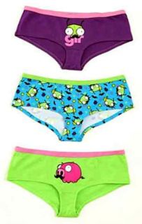 Invader Zim Gir Mustache Hot Pants Hipster Brief Panty Faces Piggy Pig