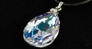 Sword Art Online Asuna Heart of Yui Swarovski Crystal Necklace