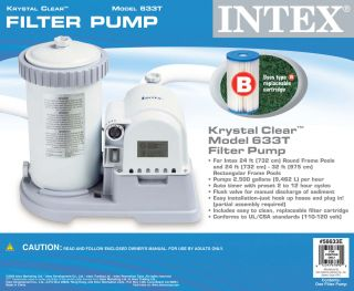 Intex Easy Set Swimming Pool Replacement 2500 Filter Pump Kit 56633EG