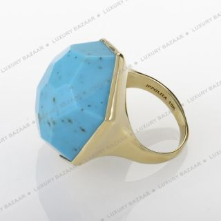 IPPOLITA Modern Rock Candy Large Turquoise Cocktail Ring