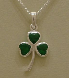 Shamrock Necklace Irish Celtic Lady 925 Sterling Silver Jewelry