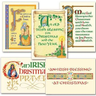 Blessings Collection Assorted Irish Christmas Cards 18 w 5 Diff
