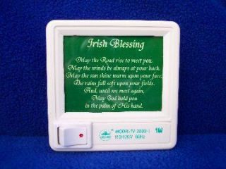 Ireland Irish Traditional Irish Blessing Nightlight