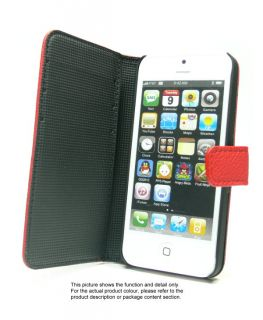 Wallet Flip Fold Stand Skin Cover Case for iPhone 5 U425D