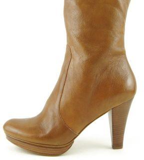 Via Spiga Irma Tobacco Platform Womens Shoes Knee High Tall Boots 8