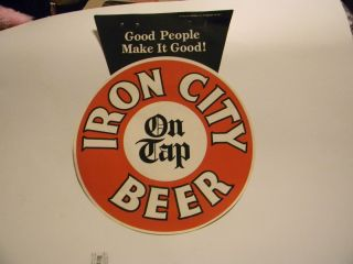 Iron City Beer Paper Advertising Sign