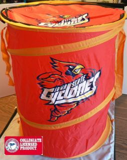 IOWA STATE CYCLONES NCAA SPORTS BASKETBALL FOOTBALL LAUNDRY HAMPER BAG