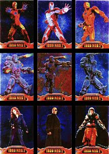 Iron Man 2 Embossed Armor 9 Card Foil Chase Set