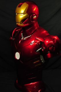 Iron Man 33 Life Size Bust Statue 1 1 Scale Custom Painted Resin