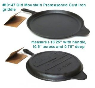 Old Mountain Cast Iron Griddle Grill Frying Pan Skillet