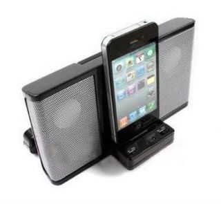 100 Brand New Dock Station Speaker for iPod Touch iPhone 4 4G 3G Black