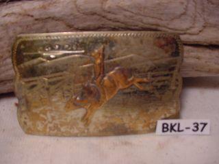 Old Irvine Jachens Cowboy Bucking Bull Belt Buckle