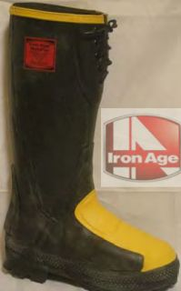Iron Age 16 Metapro Rubber Steel Toe Boot Style 0975